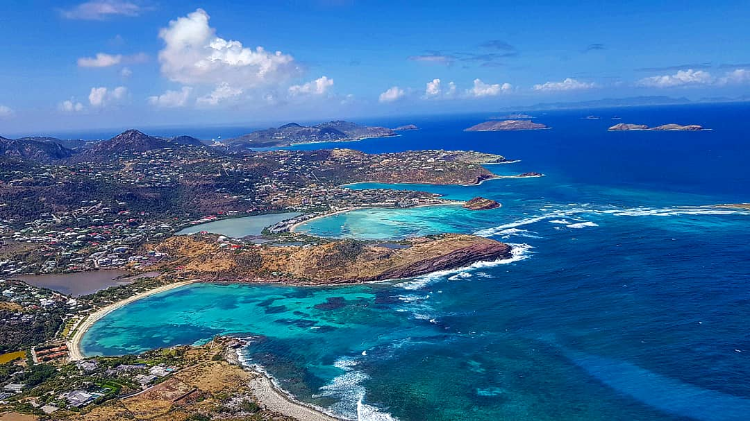 SAINT BARTH BY HELICOPTER, View from above